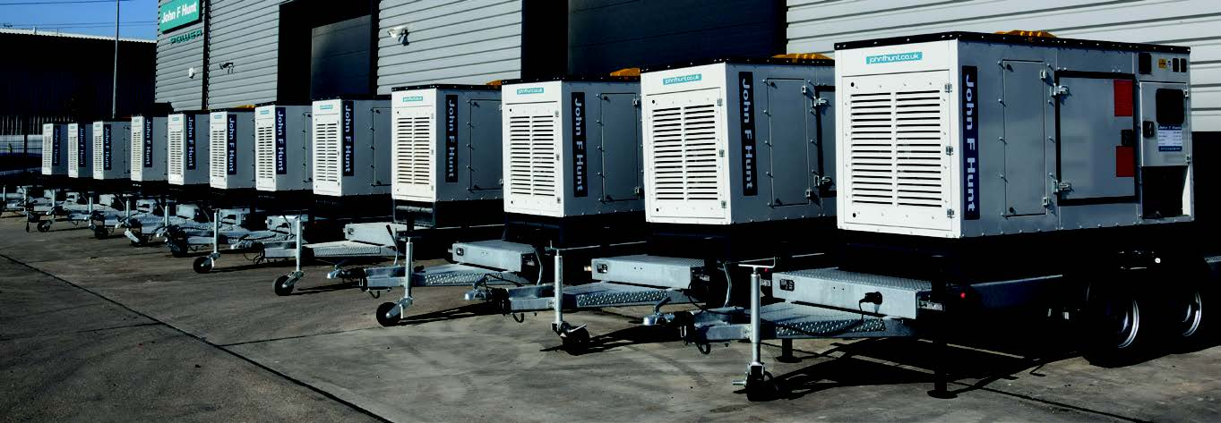 Generators line-up at John F Hunt Power