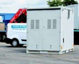 Secured containers for power generators 1